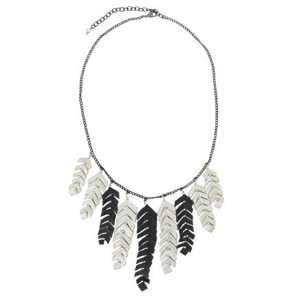 World Finds Feather Fringed Necklace