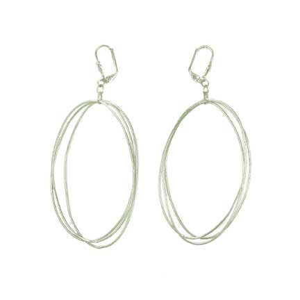 WORLD FINDS - Edie Triple Oval Earrings Silver - The Nature of Beauty