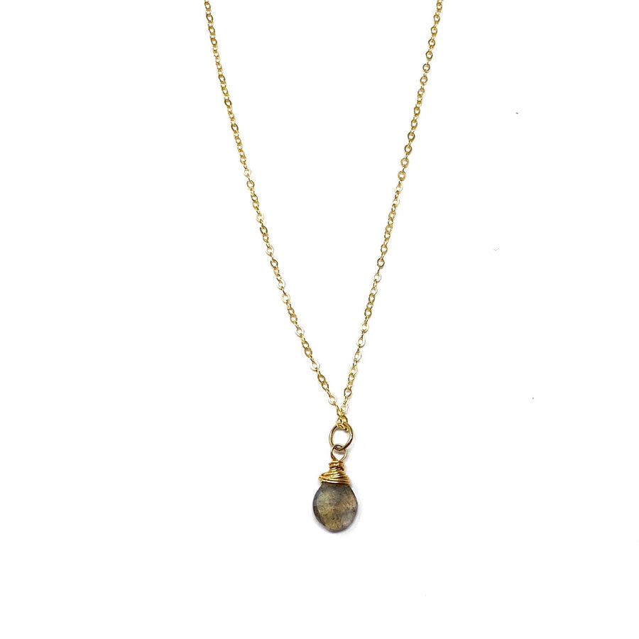 Laborite + Gold Necklace