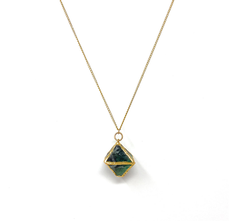 Flourite + Gold Necklace