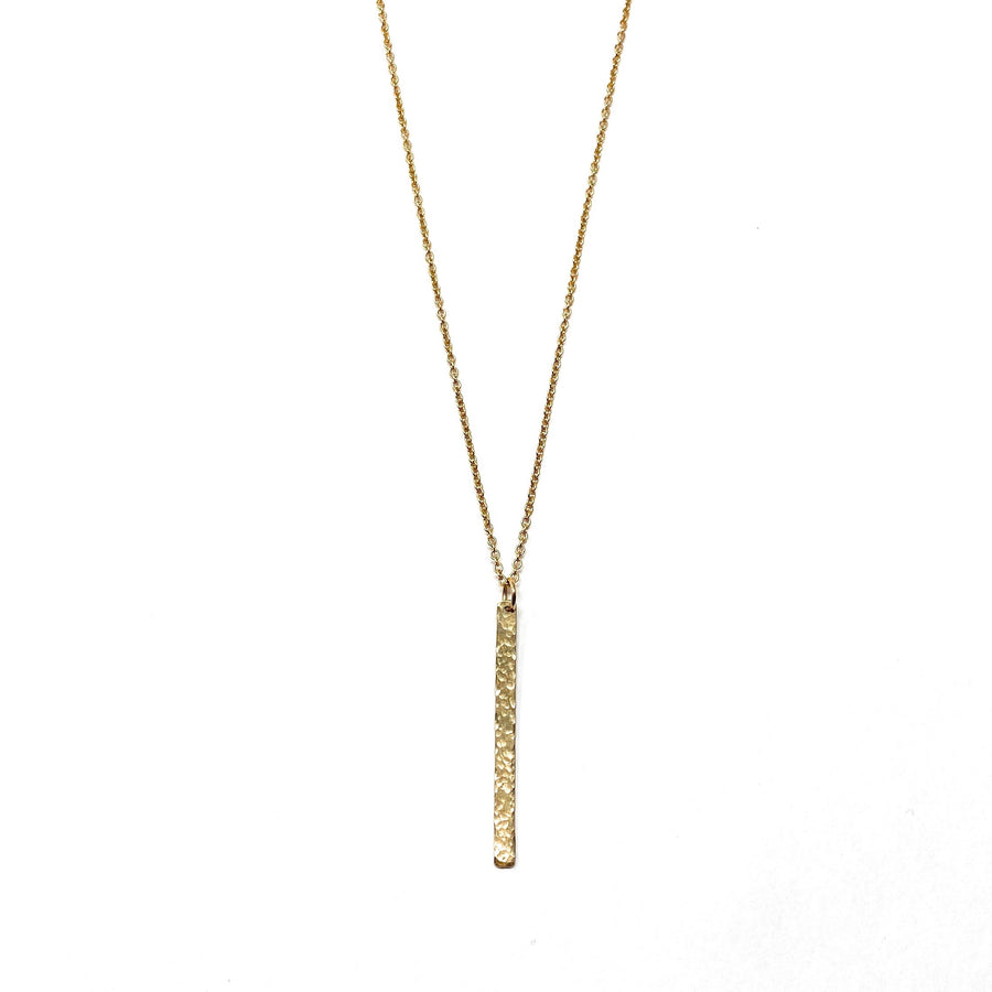 Hammered Bar Necklaces - Long Vertical