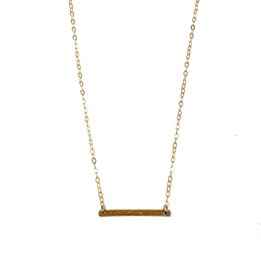Hammered Bar Necklaces - Short Horizontal