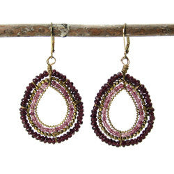 WORLD FINDS - Calypso Loop Earrings Purple - The Nature of Beauty