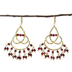 WORLD FINDS - Maharaja Chandelier Earrings Ruby - The Nature of Beauty