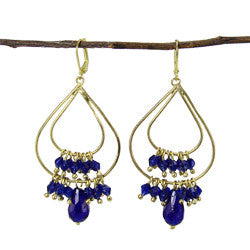 World Finds Tallulah Chandelier Earrings Cobalt