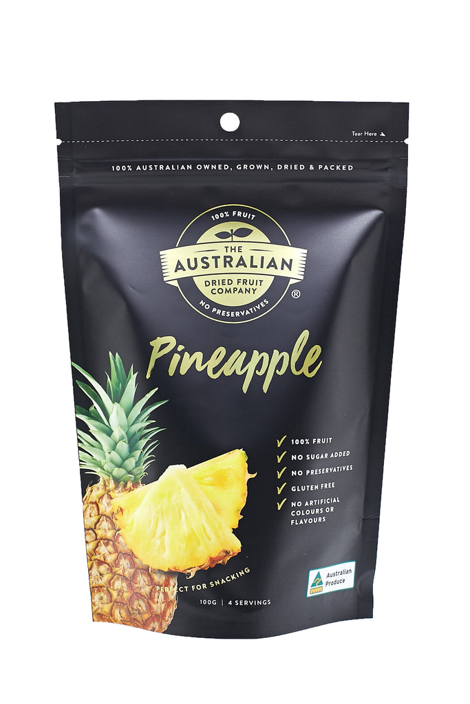 100% natural, Australian Made Dried Pineapple. Healthy, dried fruits from Australia. (4764243623985)