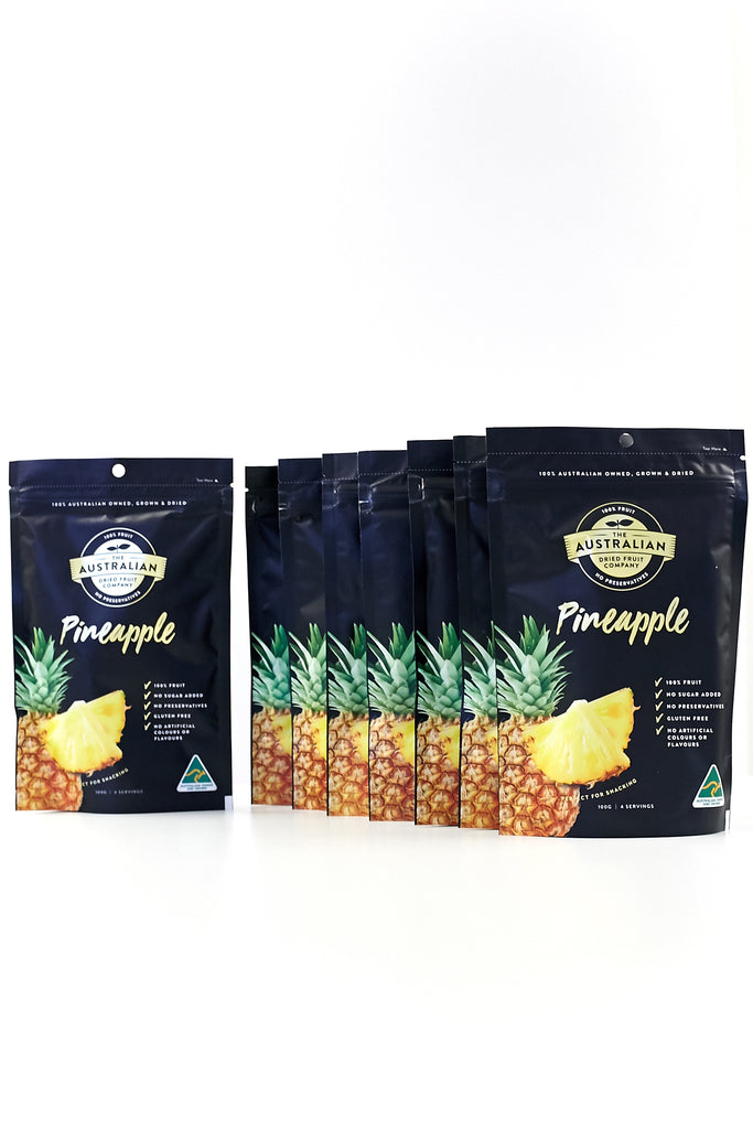 100% natural, Australian Made Dried Pineapple. Healthy, dried fruits from Australia. (4568335581233)