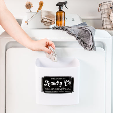 NINE ROYAL Farmhouse Laundry Room Lint Bin