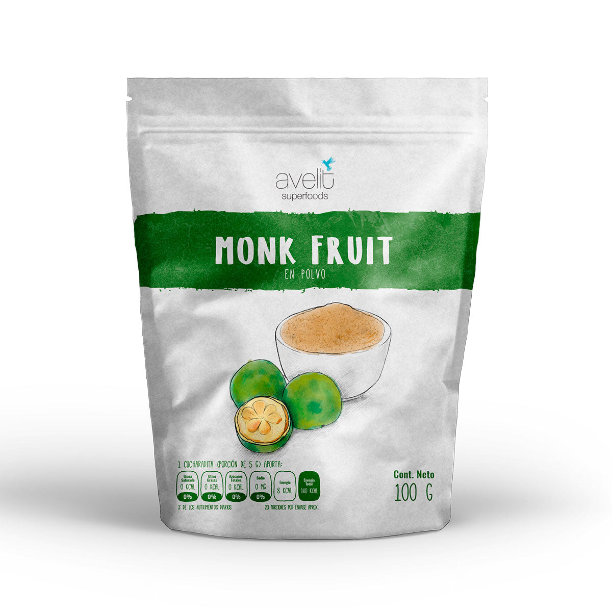 Monk Fruit Natural en Polvo