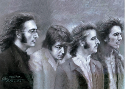 The Beatles - Fab Four by Artist Haiyan
