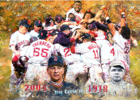 Boston Red Sox Breaks the Curse by Artist Haiyan