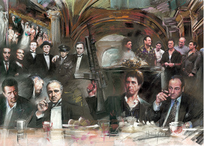 Mafia Gangster Bad Guys Last Supper by Haiyan 11x14inches