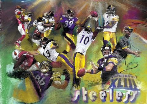 Pittsburgh Steelers Superbowl XLIII by Artist Haiyan