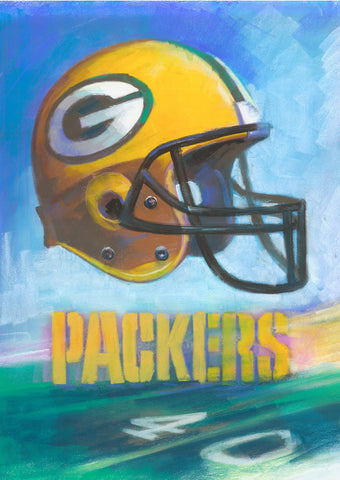 Greenbay Packers Helmet by Artist Haiyan