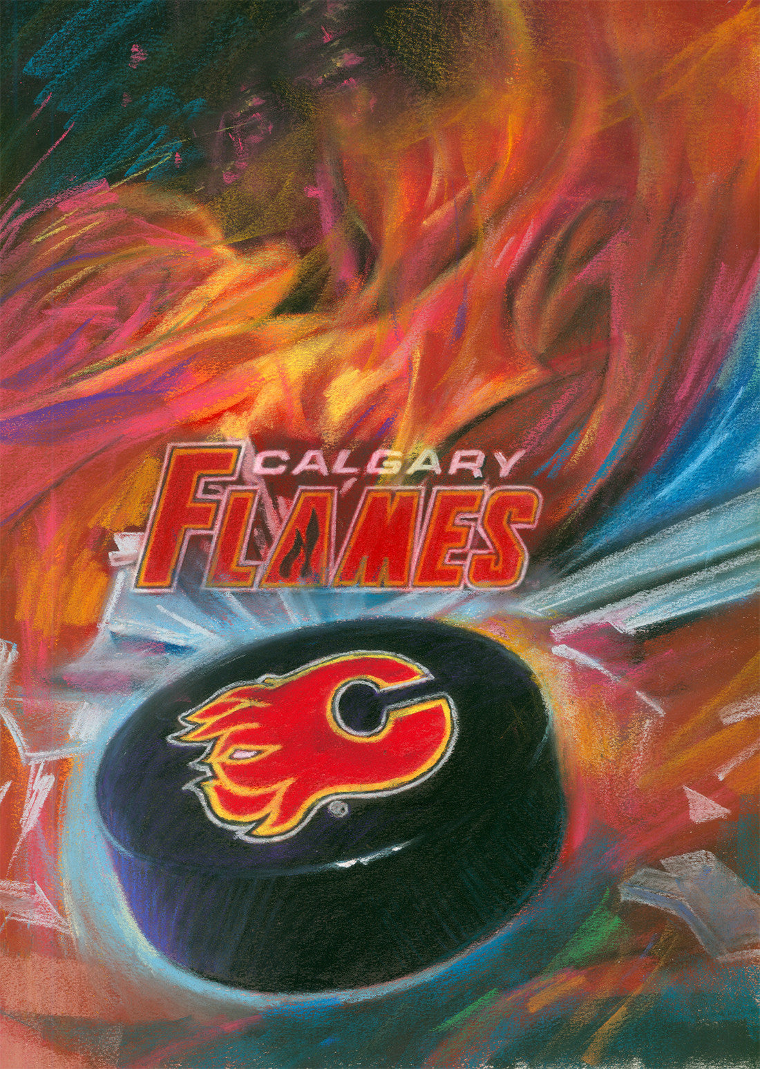 Copy Of Calgary Flames By Artist Haiyan Pop Picture