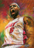 Lebron James for the Miami Heat by Artist Haiyan
