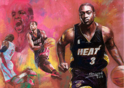 Dwayne Wade for Miami Heat by Artist Haiyan