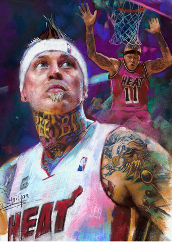 "Chris  ""Birdman"" Anderson for the Miami Heat by Artist Haiyan"