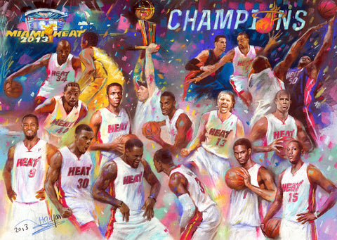 2013 NBA Championship Trophy Miami Heat by Artist Haiyan