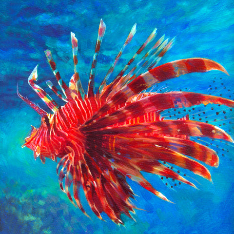 Lion Fish in Ocean by Artist Haiyan