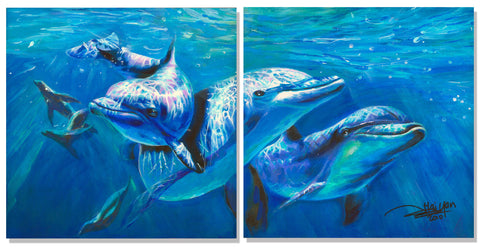 Dolphin Painting by Artist Haiyan