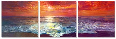 Copy of Beach by Sunset by Artist Haiyan
