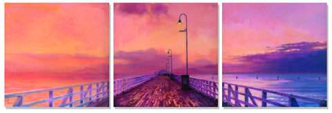 Sunrise Pier by Artist Haiyan