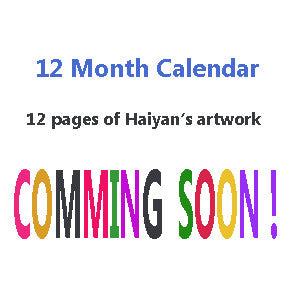 12-Month Calendar 2017 of Haiyan's Artwork