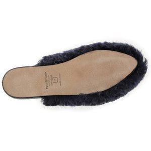Julia Exposed Frosted Indigo slipper Ross & Snow