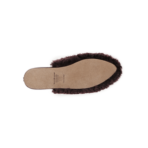 Julia Exposed Frosted Plum Shearling Lined Slipper
