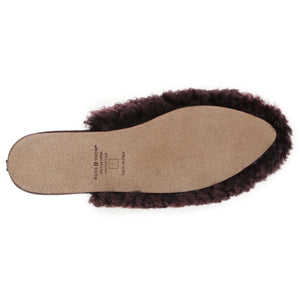 Julia Exposed Frosted Plum slipper Ross & Snow