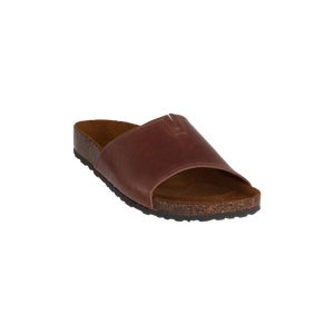 Beau Cognac Open Toe Slip-On Sandal