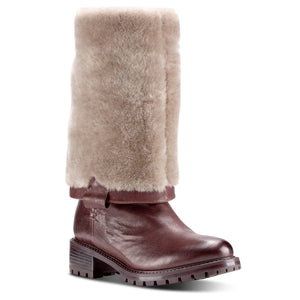 Elena Espresso Shearling Lined Tall Boot