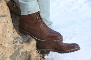 Riccardo Weatherproof Leather Brown Boot boot Ross & Snow