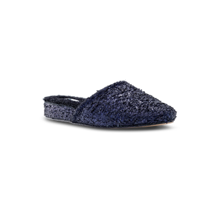 Julia Distressed Indigo Shearling Lined Slipper