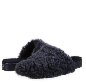 Julia Exposed Frosted Indigo Slipper slipper Ross & Snow