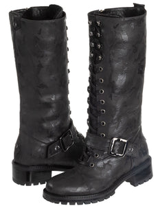 Lorinda Weatherproof Leather Black Combat Boot boot Ross & Snow