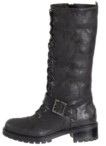 Lorinda Weatherproof Leather Black Combat Boot boot Ross & Snow 5