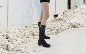 Rosina Weatherproof Leather Black Camo Boot boot Ross & Snow
