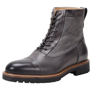 Riccardo Weatherproof Leather Charcoal boot Ross & Snow