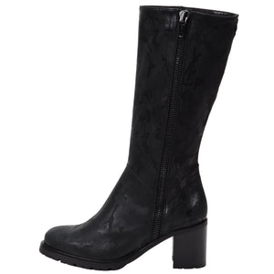Rosina Weatherproof Leather Black Camo boot Ross & Snow 5