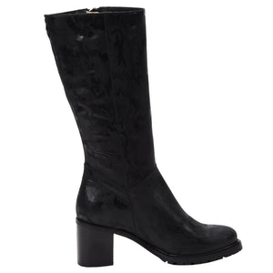 Rosina Weatherproof Leather Black Camo boot Ross & Snow