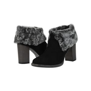 Angelina Anthracite Shearling Lined Bootie