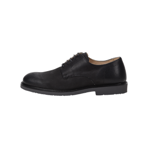 Danilo Black Embossed Waterproof Oxford Shoe