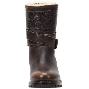 Emilina Weatherproof Leather Bomber Brown boot Ross & Snow