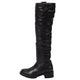 Elena Black/Silver Shearling Lined Tall Boot
