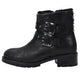 Stefana Black Camo Leather Moto Bootie
