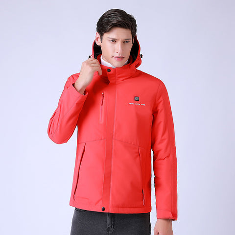 3 in 1 Heated Jacket - Red