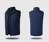 Heated Vest Classic Navy Blue