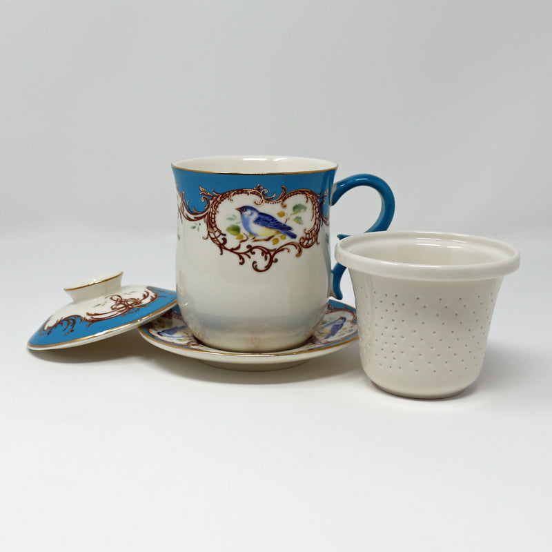 Blue Bird Infuser Cup w/Saucer